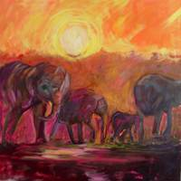Elephants Wondering